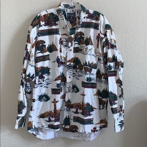 Vintage CHAPS Outdoors Hunting Button Down